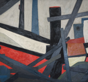 ''Red Trawler'' (1961) by Erik Laubscher.