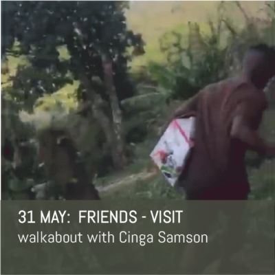 Cinga Samson walkabout for the Friends